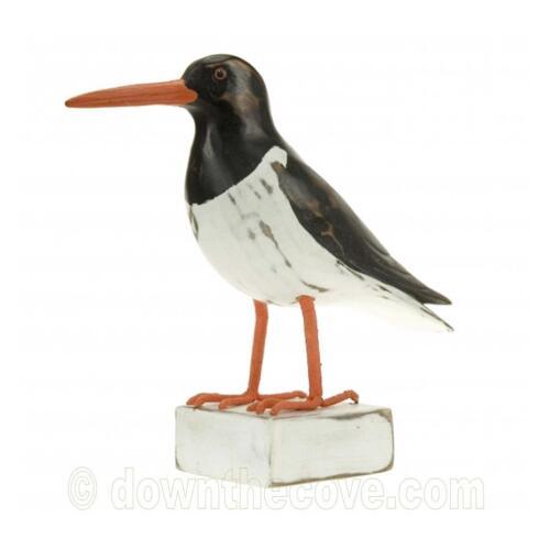 Wooden Oystercatcher Ornament Oyster Catcher Bird Wood Carving Seabird Gift