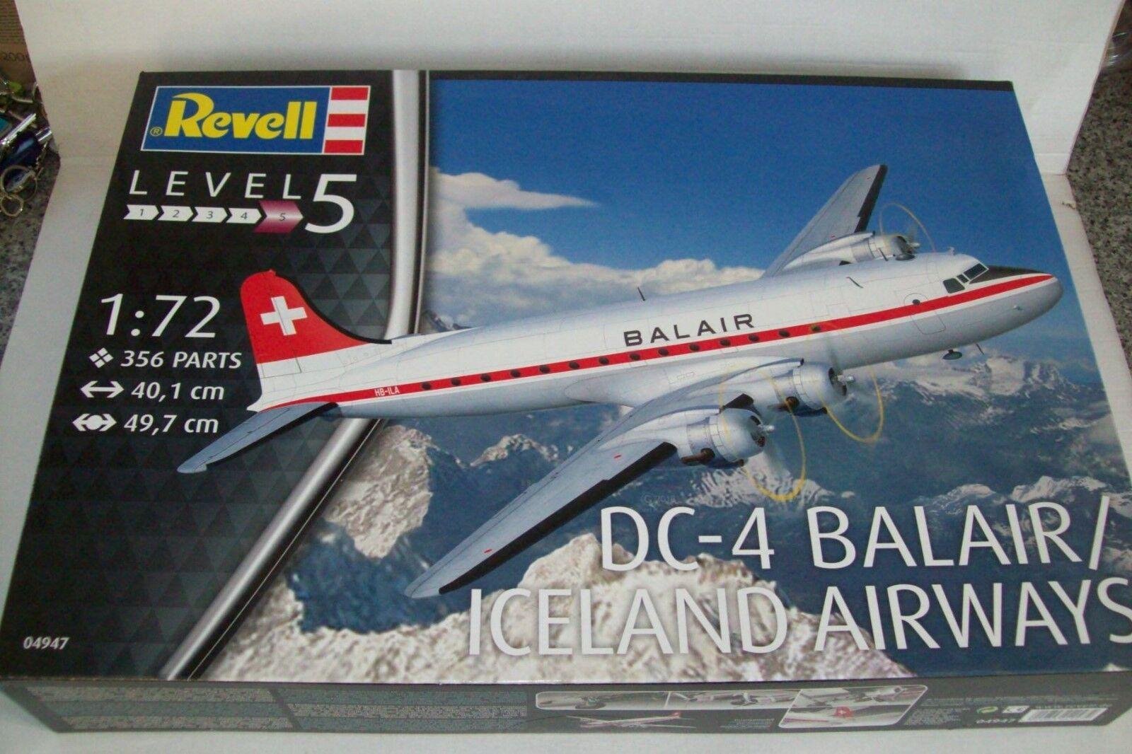 REVELL  DOUGLAS DC-4  BALAIR   ICELAND AIRWAYS  1 72  scale  kit