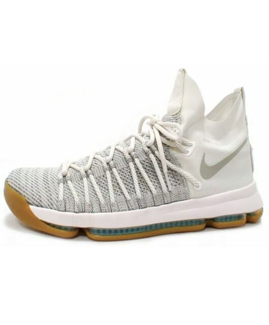 outlet store c405a 2a6f6 Nike Zoom KD 9 Elite Pale Grey Ivory Shoes Sneakers Sz 10 basketball Durant  New