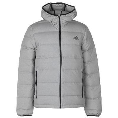 100% Vero Adidas Helionic Giù Riempito Puffa Giacca Cappotto Da Uomo-grigio Heather-small-nuova Con Etichetta-mostra Il Titolo Originale