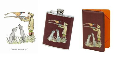 """Were you shooting at me"" Pheasant game day gift Hip Flask, License Holder,card"