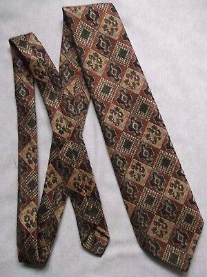 Amichevole Vintage Tie Cravatta Da Uomo Retrò 1980s Marrone-