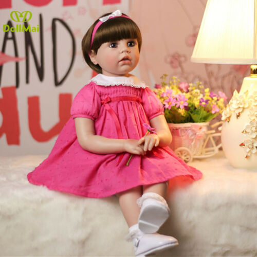 60cm Silicone Reborn Baby Doll Toys Like Real Baby Doll 24inch Vinyl Princess BB