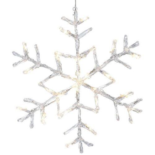 LED Acryl Schneeflocke ANTARCTICA 40x40cm 24er warmweiß außen 583-96 xmas