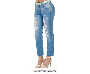 Authentic Colombian Push Up JEANS COLOMBIANOS TRUCCOS JEANS JEAN Levanta Cola