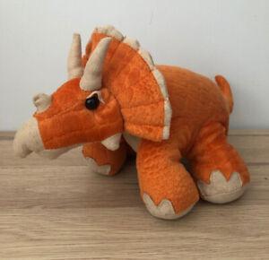 Triceratops Orange Dinosaur Soft Toy By Sainsbury S Vgc Ebay