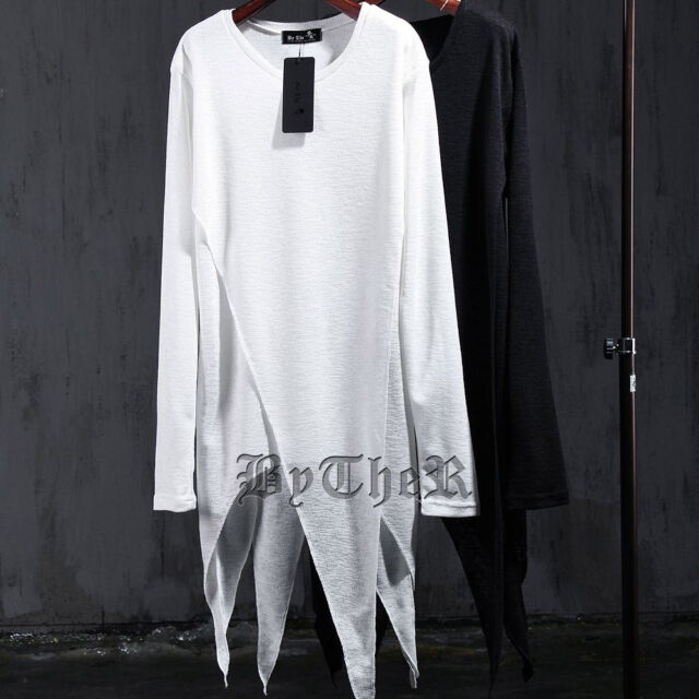 ByTheR Triangle Layered Long Sleeve T-Shirt Slim Avant-garde P0000XKE