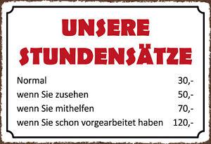 Unsere-Stundensaetze-Blechschild-Schild-gewoelbt-Tin-Sign-20-x-30-cm-SM0120-X