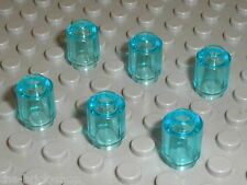 6 x cylindre TrLtBlue LEGO ref 3062b / Set 6873 7206 70010 79116 70006 70132 ...