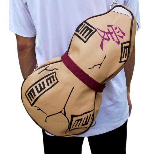 Anime Naruto Gaara Gourd PU Shoulder Bag Outdoor Backpack Satchel Cosplay Prop