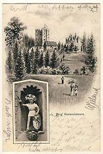ROTTWEIL Burg Herrenzimmern * Künstler AK 1904 EUGEN FELLE