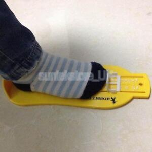 Toddler Baby Kids Shoe Gauge Child Foot Measurer Tool Sizer Yellow 22.7x8.8cm