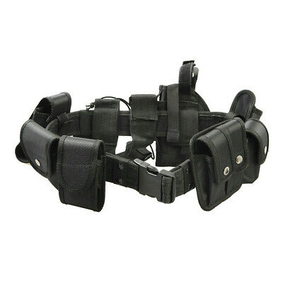 9 Pouches Police Guard Tactical Belt Buckles Utility Security System Kit