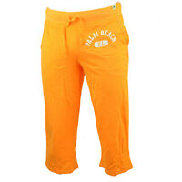 Palm Beach Florida Fl Orange Womens Elle Capri Pants Elastic Waist Ladies