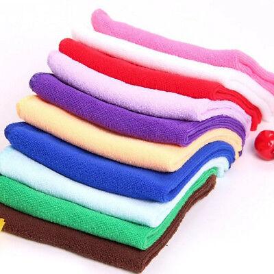 10Pcs Absorbent Microfiber Towel Car Home Kitchen Washing Clean Wash Cloth T JH