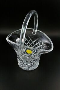 VTG-Galway-Irish-24-Lead-Crystal-Basket-Diamond-Pattern-Czech-Glass