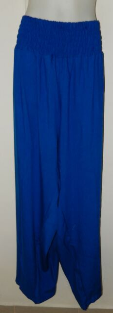 LADIES WIDE LEG SHIRRED LONG LENGTH PANTS plus size 22  24  26  NEW WITH TAGS