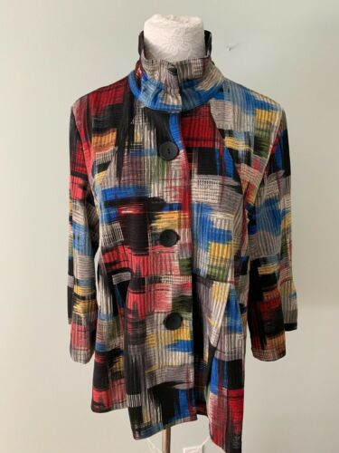 Damee Women's Jacket Shirt XL Patchwork Western