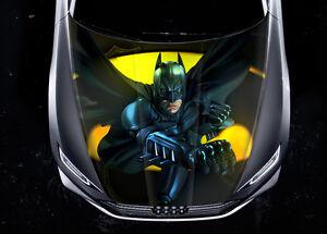 Batman Car Hood Wrap Full Color Vinyl Sticker Decal Fit Any Car - Full color vinyl stickers