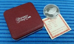1980-Singapore-Two-Communication-Satellite-Earth-Station-Antennae-10-Proof-Coin