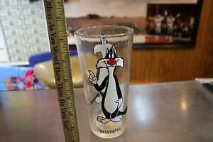 """Cup Vintage ~Looney Toons Pepsi Collector series 1973 /""""Sylvester/"""" Glass"""