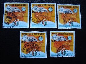COTE-D-IVOIRE-timbre-yvert-tellier-n-675-x5-obl-A27-stamp-A