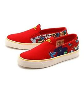 bb5c661ee Nike Red TOKI Aloha Bright Floral Thick Canvas Slip-on Shoes NEW Wms ...