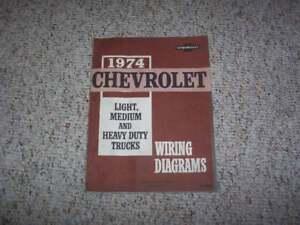 1974 chevy c10 c20 c30 k10 k20 k30 truck electrical wiring diagram manual ebay. Black Bedroom Furniture Sets. Home Design Ideas