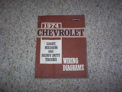 1974 Chevy C10 C20 C30 K10 K20 K30 Truck Electrical Wiring ...