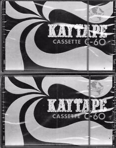 2-New-one-only-Sealed-039-Kaytape-039-Cassette-Tapes-C-60-each-LOT-7