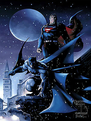 Batman Superman Poster Superhero Dawn Of Justice Picture Print Gift Wall Art HD