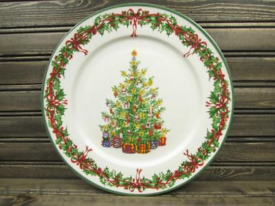 Traditions DINNER PLATES 2 HOLLY Holiday Celebrations Christopher Radko