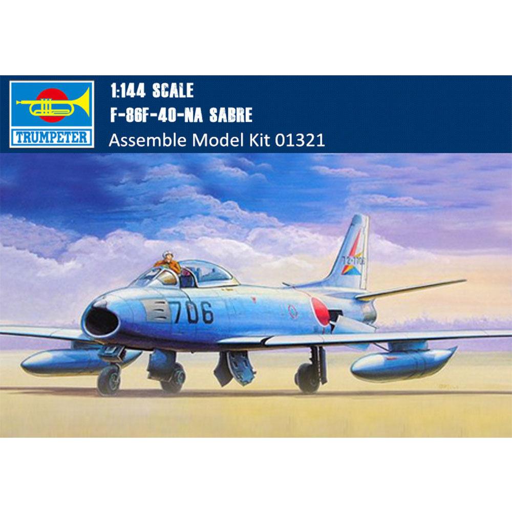 Trumpeter 01321 F-86F-40-NA Sabre Interceptors Fighter Aircraft 1 144 Model