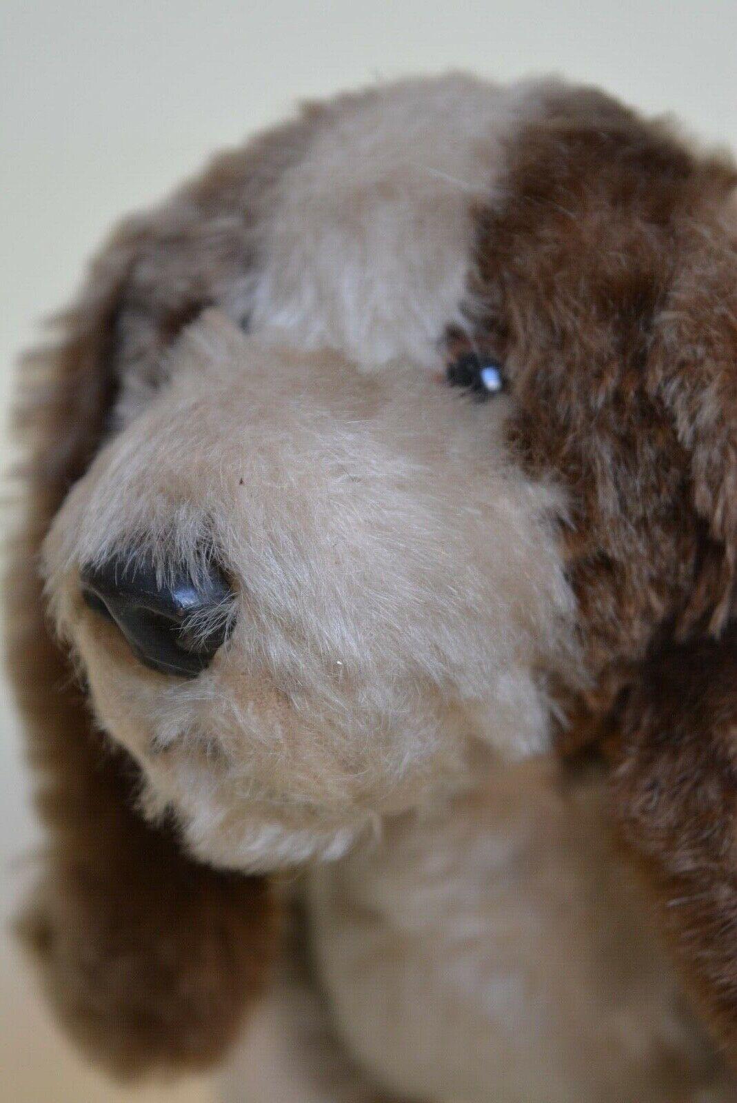 Vintage Straw Filled Toy Terrier Dog on Wheels Basset Hound
