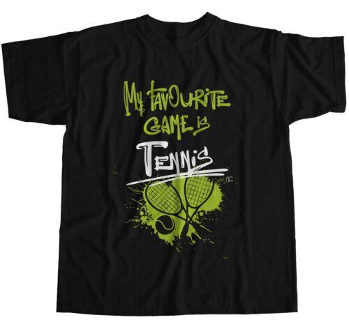 1Tee Homme de mon jeu préféré est Tennis T-Shirt