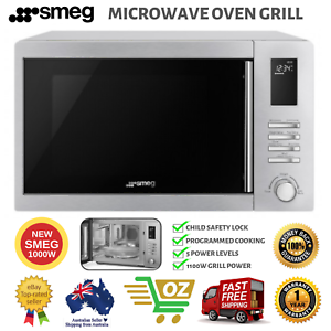 New Smeg 1000w 2 In 1 Convection Microwave Oven Grill 34l