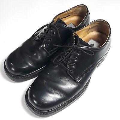 Aldo Mens Black Leather Lace Up Round
