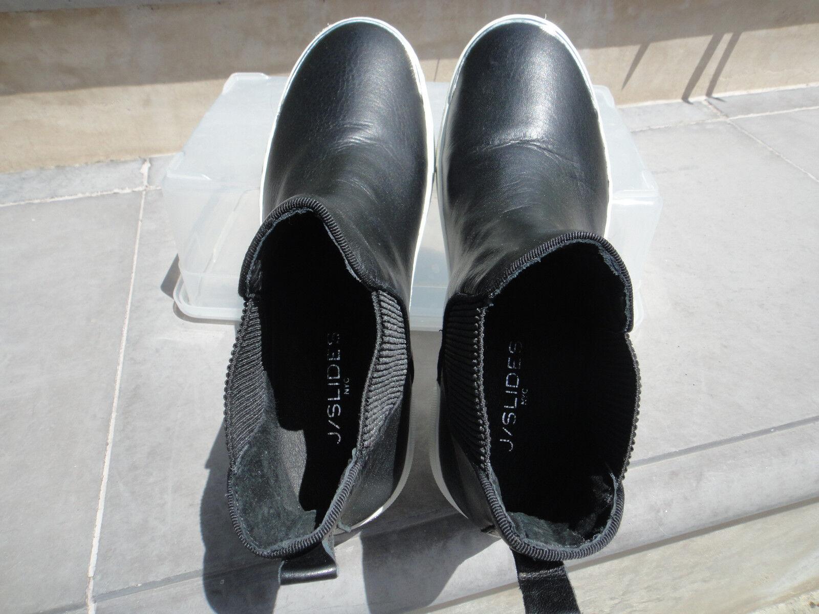Jslides J J J diapositives palia High Top Slip Ons, cuir noir, US Taille 7 M, les fabricants Standard prix de détail  150 5d9a8b