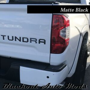 For 2014-2020 Toyota Tundra Black Aluminum Tailgate Letters Decal ABS Inserts Emblem Decal