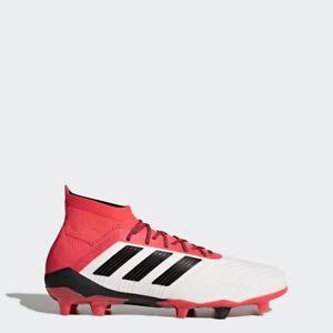 Dettagli su Adidas Predator 18 + Fg Scarpe Calcio Uomo BiancoNeroRosso [CM7391]