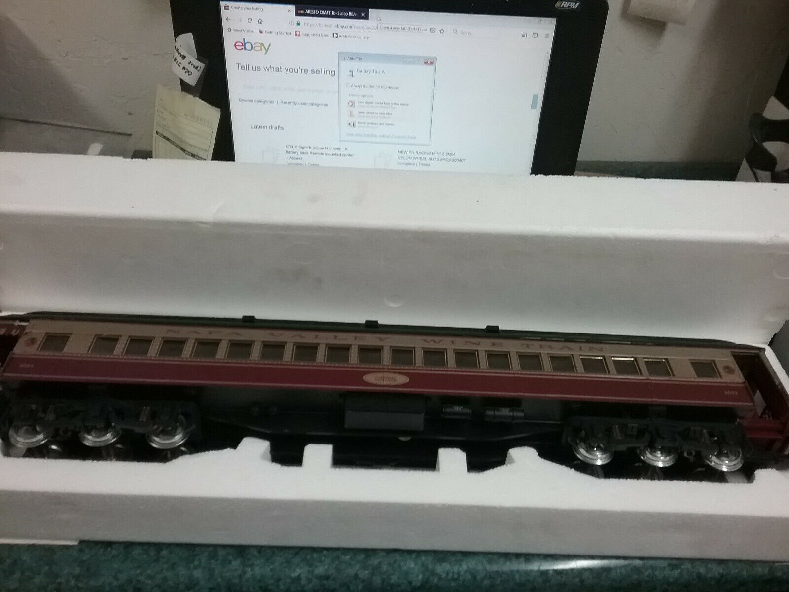 NEW ARISTO CRAFT G SCALE HEAVYWEIGHT PASSENGER CAR OBSERVATION ART-31499