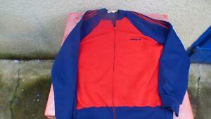 Détails sur veste de survetement Adidas Ventex vintage jrouge et bleu T L 180