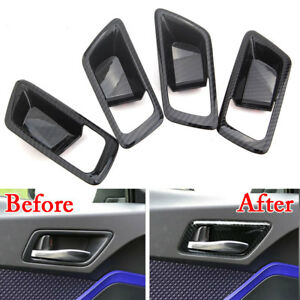 For-Toyota-C-HR-16-18-Carbon-Fiber-Style-Car-Inner-Door-Handle-Bowl-Cover-Trim