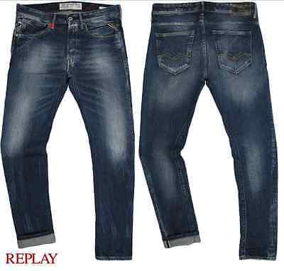 BNWT Replay Anbass Hyperflex Jeans Size 30   Rrp £169.99 DK Wash