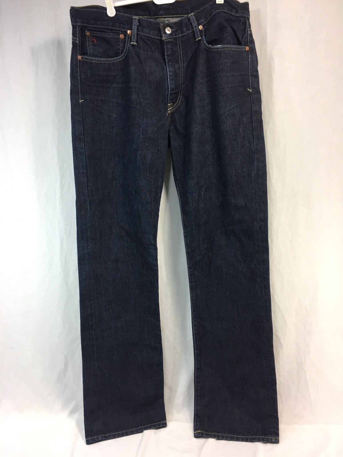 POLO RALPH LAUREN VINTAGE WASH RIVERSIDE Jeans Mens 38 35 Denim COTTON 34 34
