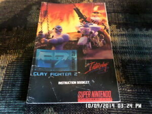 Clay-Fighter-2-Judgement-Clay-SNES-Super-Nintendo-Manual-Only-NO-GAME