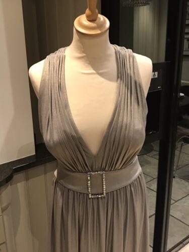 Style By Evening 10 Frank Usher Dusk Dress Shimmer Designer Size Silver dIwvIA