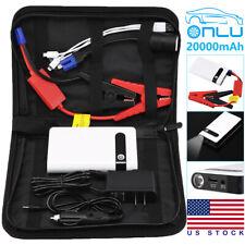 Mini Portable Car Jump Starter 20000mah Power Bank Battery Charger Flashlight Us