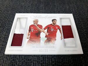 Panini Flawless Soccer - Robben + Xabi Alonso 03/20 Dual Patch / Bayern Munchen