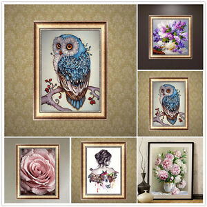 DIY-5D-Diamond-Embroidery-Painting-Owl-Animal-Cross-Stitch-Craft-Room-Home-Decor
